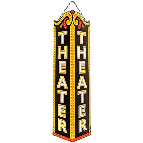 Theater Triangle Embossed Tin Sign by Everydecor