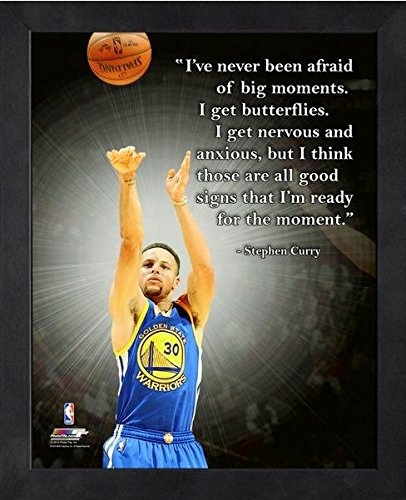 Stephen Curry Golden State Warriors NBA ProQuotes® Photo (Size: 12'' x 15'') Framed by NBA