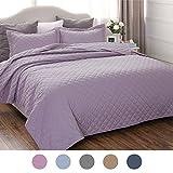 quilts king size purple - Lavender Bedding Quilt Set King Size 106