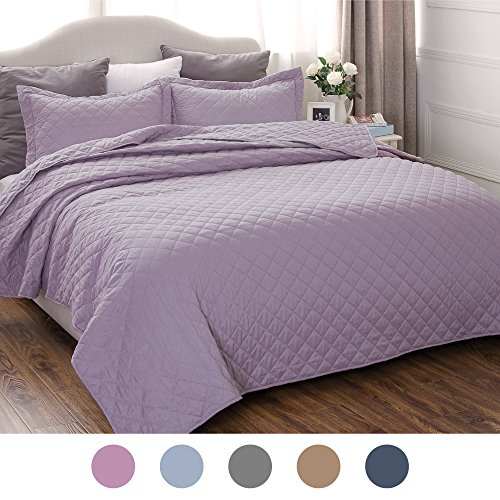 Lavender Bedding Quilt Set Full/Queen Size 90