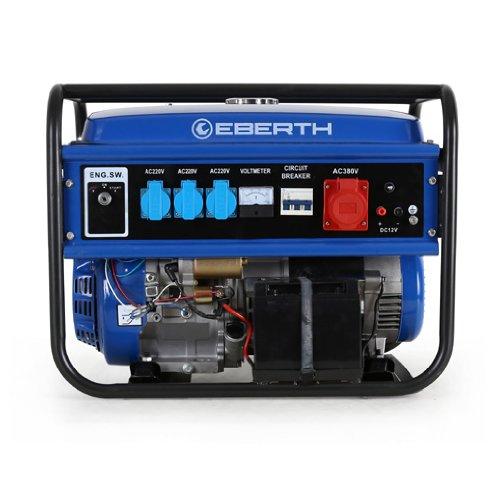 EBERTH 5500 Watt Benzin Stromerzeuger (E-Start, 13 PS Benzinmotor, 4 ...