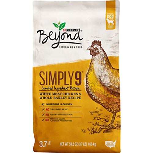 Purina Beyond Limited Ingredient, Natural Dry Dog Food, Simply 9 White Meat Chicken & Barley Recipe - 3.7 lb. Bag