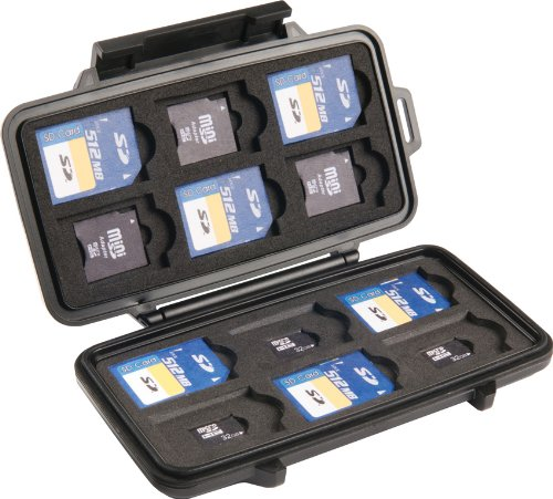 Pelican 0915 SD Memory Card Case (Black) Resin Memory