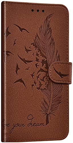 NSSTAR Compatibel met Huawei Honor 10i20i Cover Case Flip Wallet Case PU Lederen Book Case Met Kaartsleuven Veer ontwerpen relif Lederen Case Bumper Case ShockAbsorption Bruin