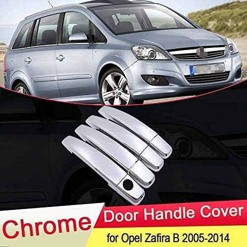 SHENYI Autozubehör Außentürgriff for Opel Zafira B Familie Vauxhall 2005~2014 Chrome Tuergriffabdeckung Trim Car Styling-Zubehör 2006 2007 2008 2009 2010 2011 (Color Name : for 4 Door)