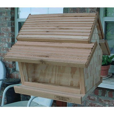 (Bird Houses by Mark Dual Bin Hopper Feeder w/Copper Roof)