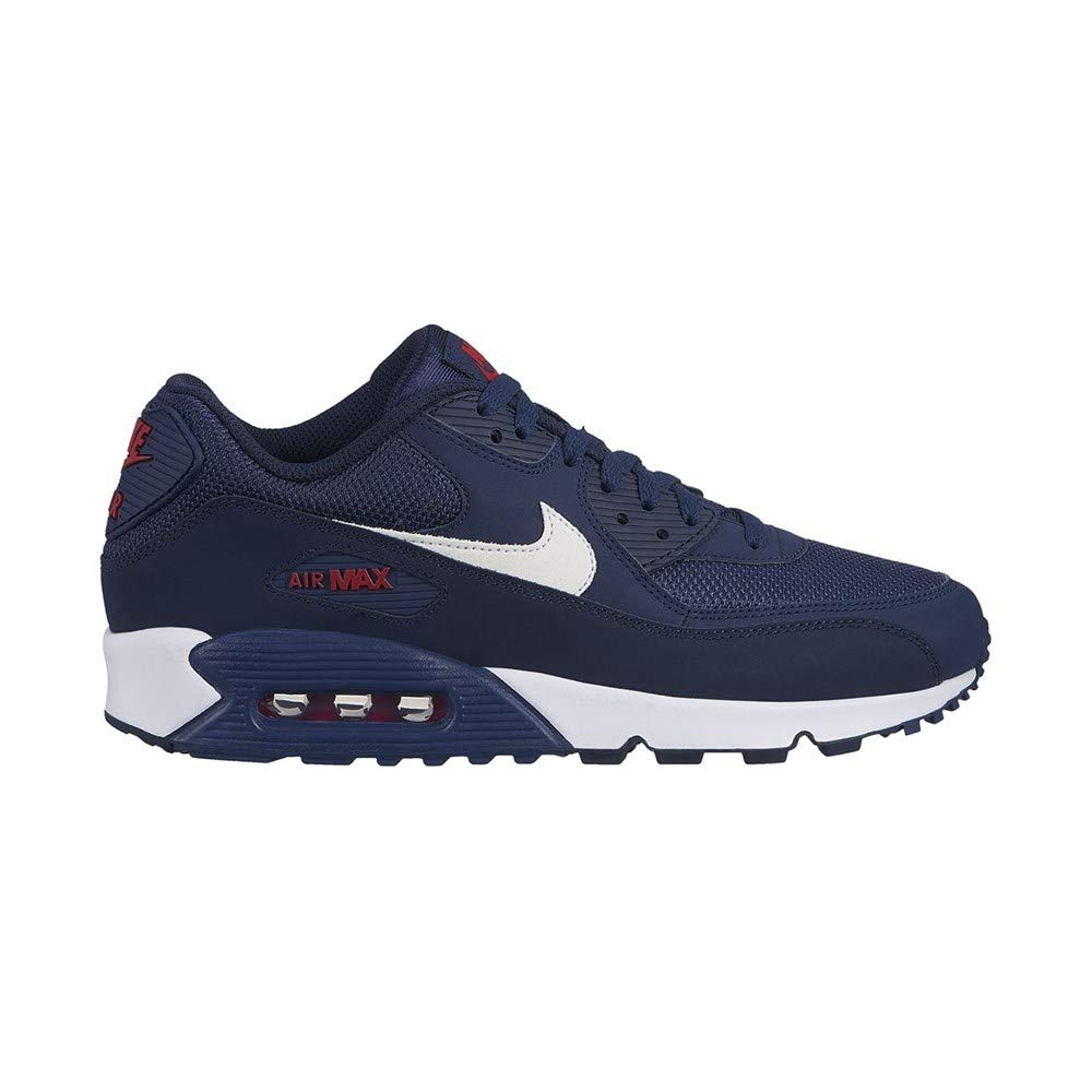 detailed look a8291 3bb23 Galleon - Nike Mens Air Max 90 Essential Running Shoes Midnight  Navy White University Red AJ1285-403 Size 9