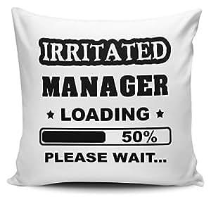Irritated Manager - Funda de cojín con interior y inserto