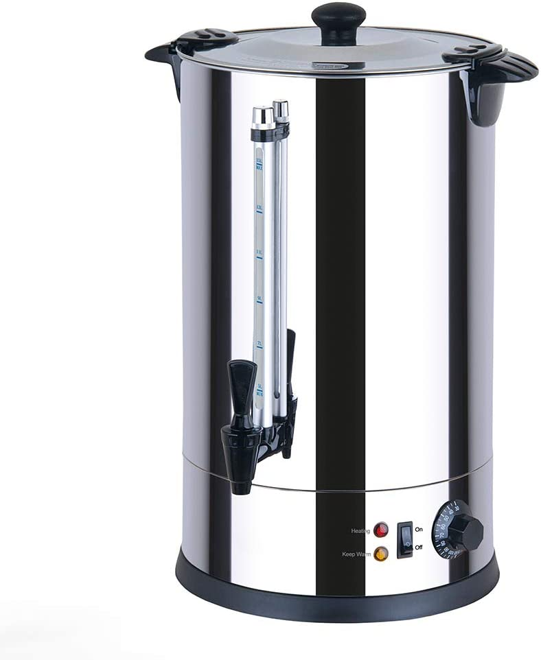 Generic CTRN15 Catering Urn, Hot Water Boiler & Dispenser, Ideal for Home Brewing, Commercial or Office Use, 15 Litre Capacity