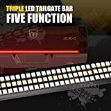 "Tailgate Light Bar - 60"" Redline Triple LED Tailgate Bar Sequential Turn Signal"