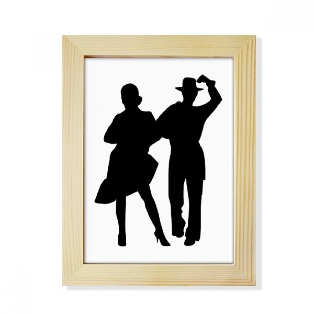 DIYthinker Duet Dance Sports Performance Dancer Desktop Wooden Photo Frame Picture Art Painting 6x8 inch