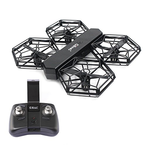 RC WIFI Drone DIY Quadrotor with HD Camera Image Transmission Altitude Hold Helicopters Portable Aircraft Flip Remote Control Headless Electronic Hobby Toys for GTENG T908W (Mini Rotors Control Helicopter Remote)