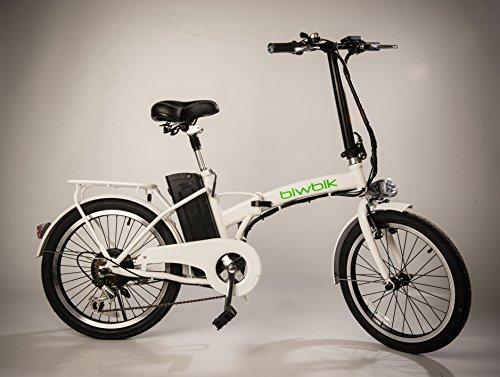 Biwik Mod. Book, 20 Zoll Elektrofahrrad,E-Faltrad,E-Bike,Pedelec,Klapprad,36V 250W Motor, 36V Li-Ion Akku mit 8Ah,weiß,schwarz (weiß)