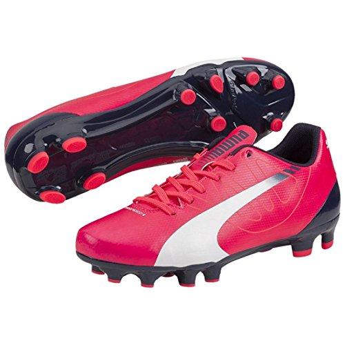 Puma evoSPEED 5.3 FG Jr - Zapatillas de fútbol infantil pink / weiß