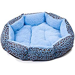 Pet Blanket,Tuscom@ Puppy Cat Warm Bed Plush Cozy Nest (41cmX37cmX12cm, Blue)