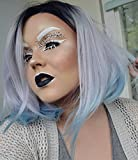 HEAHAIR Bob Short Lace Front Wigs Ombre Silver Synthetic Lace Front Wigs Hs0007
