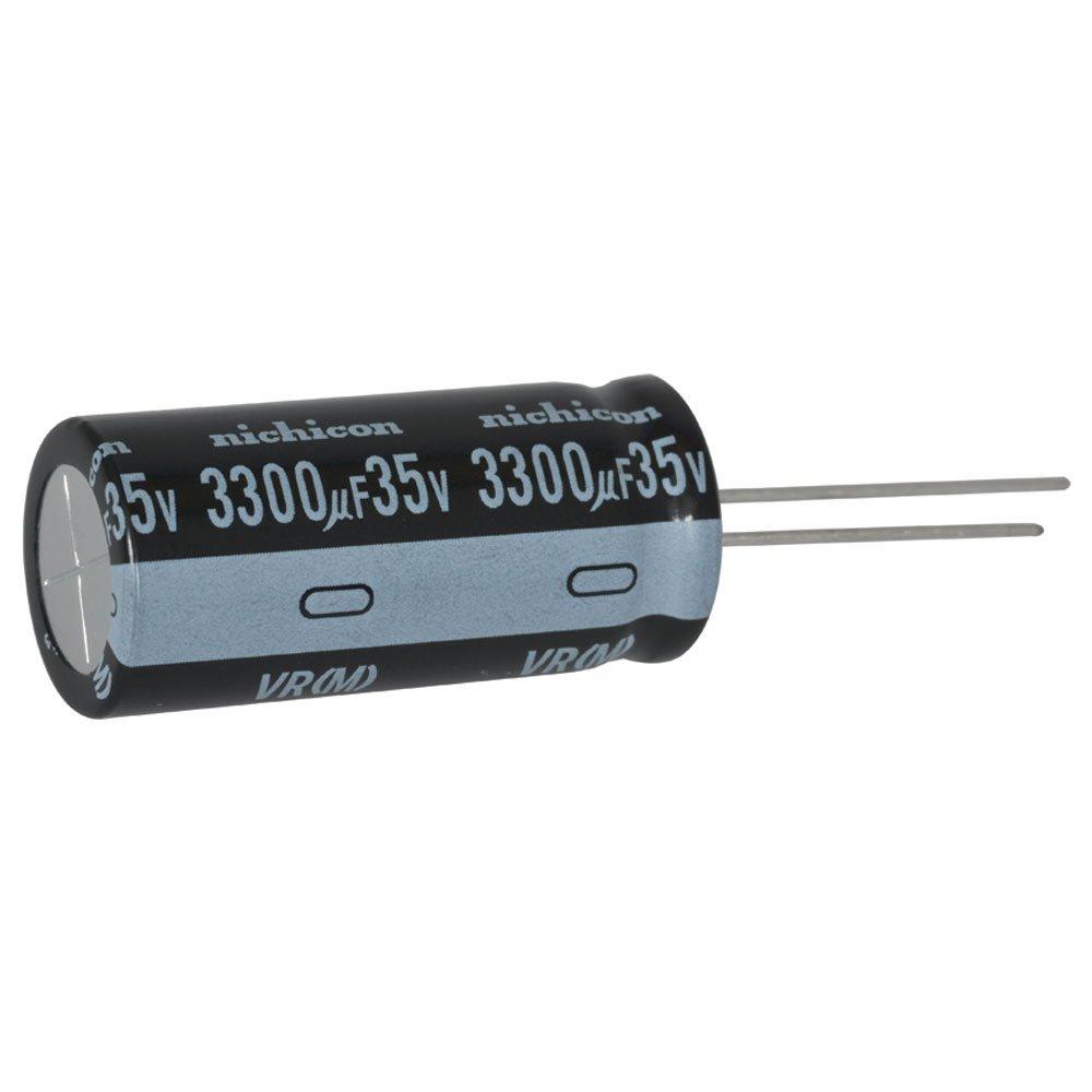 Nichicon Corporation Nichicon UVR1V332MHD Electrolytic Capacitor Pack of 10 35V Polarized 3300/µF Aluminum