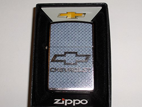 (Zippo Chevrolet Chevy Diamond Plate Chrome Lighter)