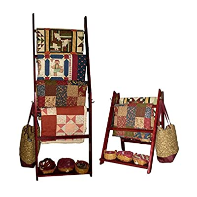 """The LadderRack Quilt Display Ladder- 5 Rung/24"""" Model - It's 2 Quilt Racks in 1!"""