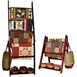 """The LadderRack 2-in-1 Quilt Display Rack (5 Rung/24"""" Model/Cabernet)"""
