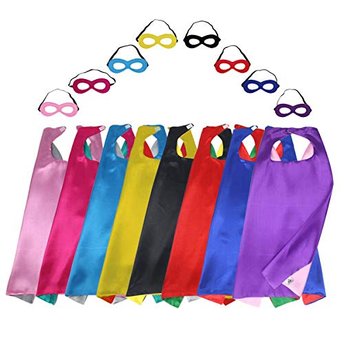 iROLEWIN Superhero Capes for Kids with Felt Masks Dress Up Costumes - Boys Girls Super Hero Party and -