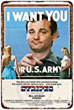 Stripes Movie Poster I Want You Bill Murray Reproduction Metal Sign 8 x 12