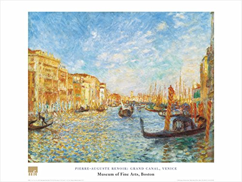 Buyartforless Grand Canal, Venice by Pierre-Auguste Renoir 32x24 Art Print Poster Famous Painting Italy Boats Ocean Water City