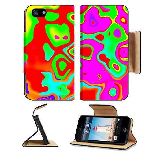 Decorative Panel International (MSD Premium Apple iPhone 5 iPhone 5S Flip Pu Leather Wallet Case Colorful abstract wavy panels for the installation of decorative works iPhone5 IMAGE 30237020)