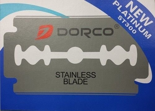 Dorco Double Edge Razor Blades - Stainless Blades 100 pcs Barber Supplies (Retractable Platinum Series)