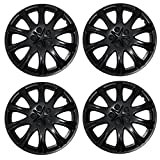 1996 ford ranger wheel cover - TuningPros WSC3-503B15 4pcs Set Snap-On Type (Pop-On) 15-Inches Matte Black Hubcaps Wheel Cover