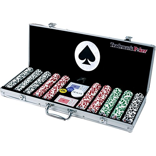 Trademark Poker 4 Aces 500 11.5G Poker Chip Set with Aluminum Case by Trademark Poker