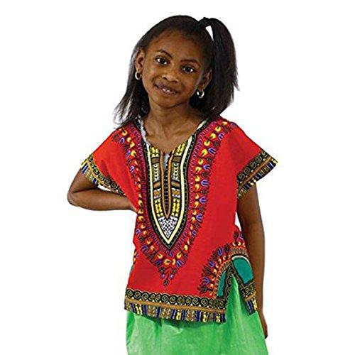 Children Traditional Dashiki: Red LG