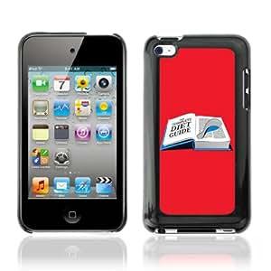 CQ Tech Phone Accessory: Carcasa Trasera Rigida Aluminio Para Apple iPod Touch 4 - Funny Diet Book Illustration