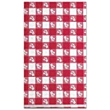 Plastic Tablecovers, Red Gingham Pattern, 54 x 108