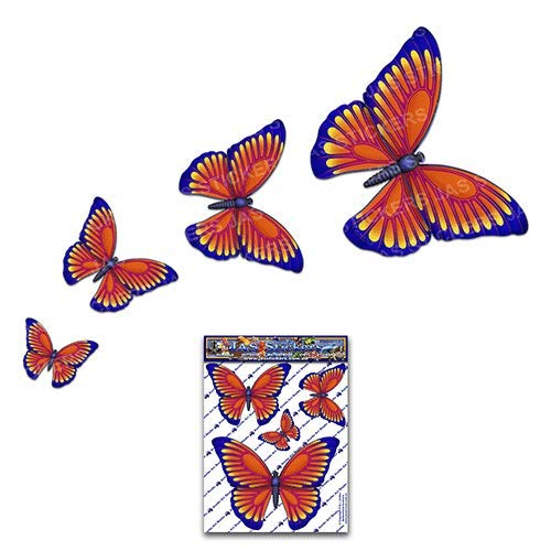 JAS Stickers/® BUTTERFLY ANIMAL CAR DECAL Caravans Orange Trucks Boats -ST025OR/_1 Small Vinyl Stickers Pack For Laptop Bicycle
