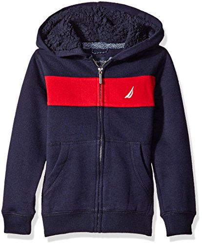 Embroidery Navy Blue Hoodie - 5