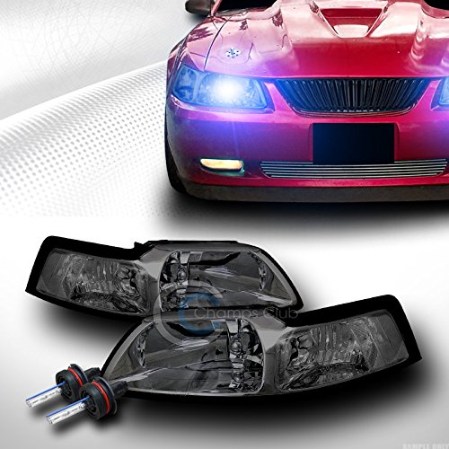 10000K HID XENON W/SMOKE CRYSTAL HEAD LIGHT PARKING SIGNAL DY 99-04 FORD MUSTANG