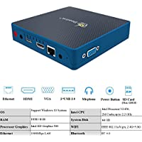 Beelink M1 MINI PC Desktop, 8GB/64GB, SSD Support, Intel Celeron N3450 (up to 2.2 GHz) Graphics 500, 1000Mbps LAN/ Dual-Band 2.4G+5.8G WiFi/ BT 4.0 [Support Windows 10] [Dual Output - VGA&HDMI]
