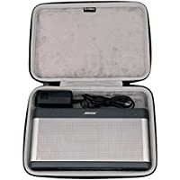 Bose Soundlink 3 Bluetooth Portable Wireless Speaker III Hard Case Travel Bag - Fits the Wall Charger and Fits with the Bose SoundLink III Cover. By LTGEM
