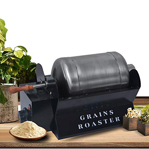 1500w Roaster Household Coffee Beans Roasting Machine Stainless Steel Electric Rotation Coffee Roaster Adjustabletemperature For Grains Peanuts Flour Herbs,Black