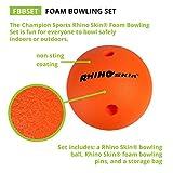 Champion Sports Foam Bowling Set: Rhino Skin Ball