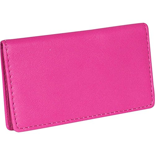 Royce Leather Business Card Case (Wild Berry)