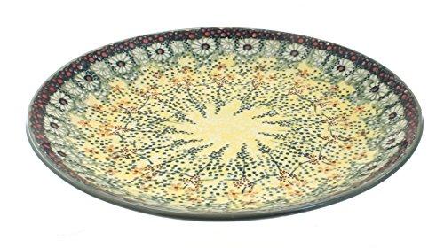 Blue Rose Polish Pottery Sunshine Grotto Dinner Plate