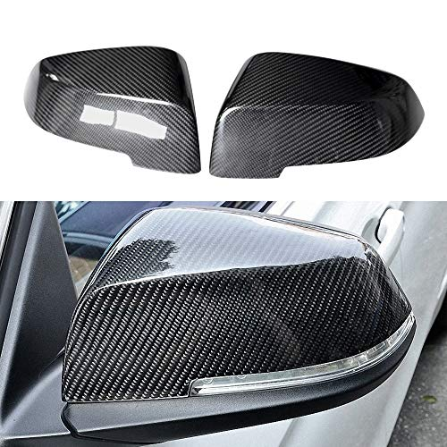 Huichi F30 Mirror Cover, Replacement Carbon Fiber Rearview Side Mirror Covers Trim for BMW 3 Series F30 F34 F31 1 Series F20 F21 2 Series F22 F23 4 Series F32 F33 F36 F87(M2) X1 Sereis E84 2013-2015