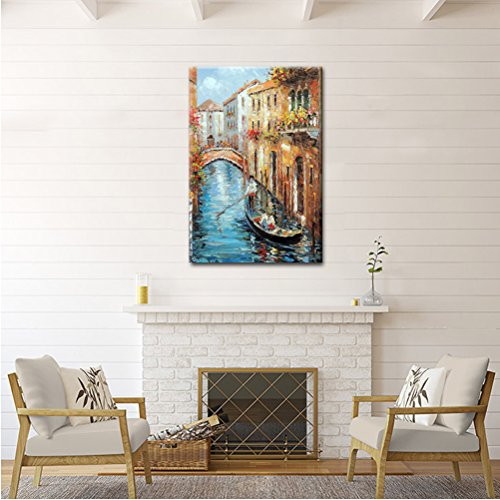 Italian Renaissance Painting Venice Water City Landscape Contemporary Art House Decor