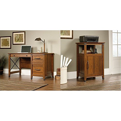 related image of Sauder Carson Forge Desk, Washington Cherry Finish