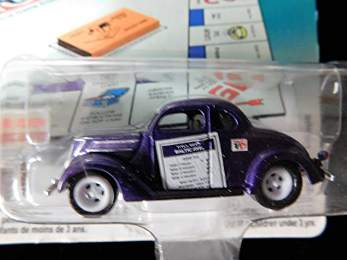 1937 Ford Coupe (rare chase white lightning ) Monopoly 70th Anniversary 1:64 scale die-cast dragster by Johnny Lightning