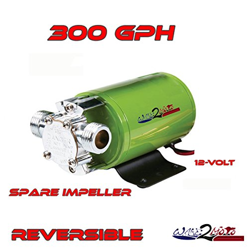 12v 12 volt Ballast Bag Reversible Water Pump 300gph WakeBoard Boat Fly High Straight Line -