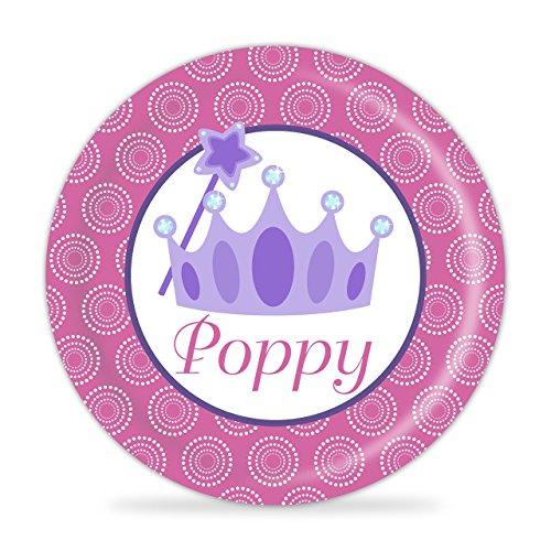 Princess Plate - Purple Crown Melamine Personalized Plate