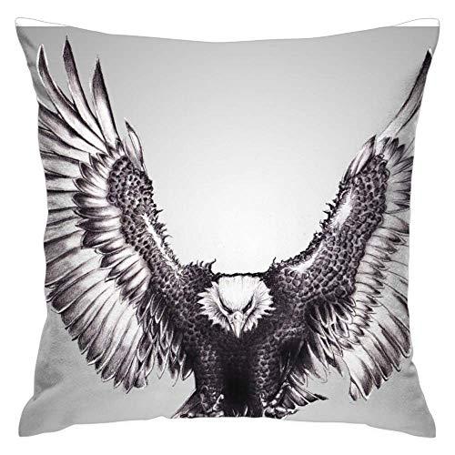 Love fled Bald Eagle Decorative Throw Pillow Covers Set of1Art Pillowcase Cushion Home Décor, 16 x 16 Inch